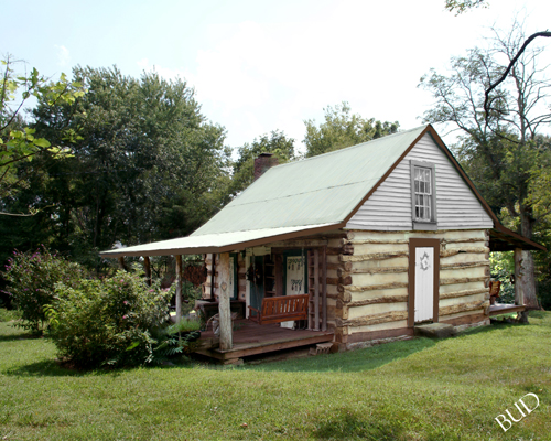 Mattingly's Log Cabin -- Log Cabin located next to Mattingly Funeral Home in Loretto in Marion County, KY