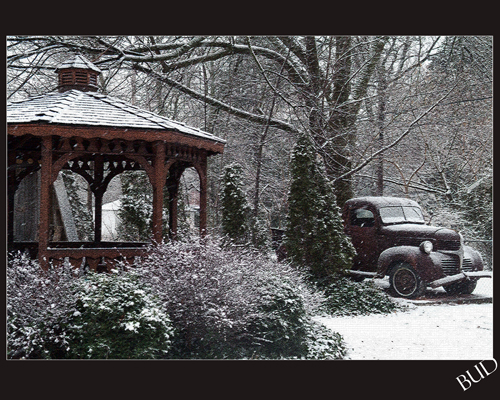 Old Truck on Snowy Morn -- 1946 Dodge Truck 